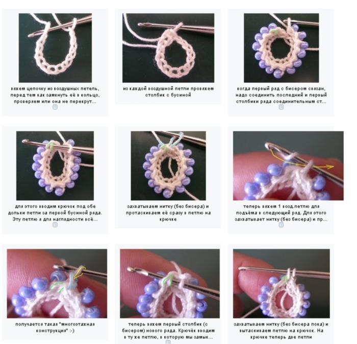 """На нашем женском портале  """"Дамочка """" Вы всегда найдете новость - схемы для вязания крючком с бисером, с фотографиями..."""