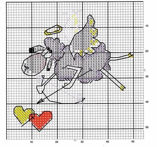 вышивка крестом схемы овечка