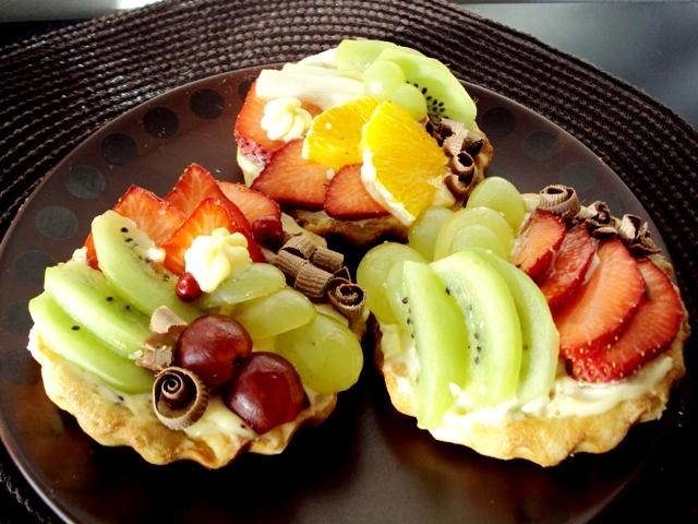 Корзиночки с фруктами и кремом рецепт пошагово