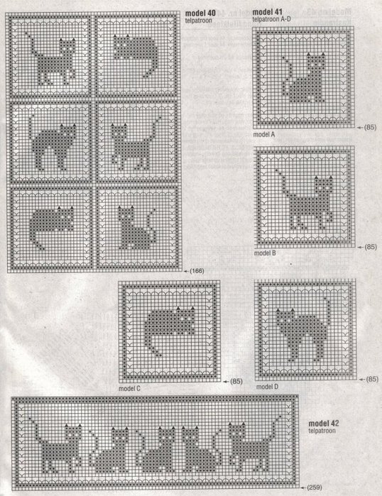 Craft home decor: crochet cats.