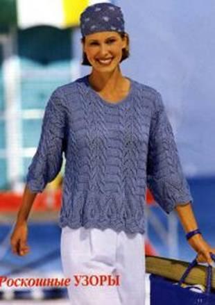как связать свитер с оленями спицами. вязаные кофты женские спицами.