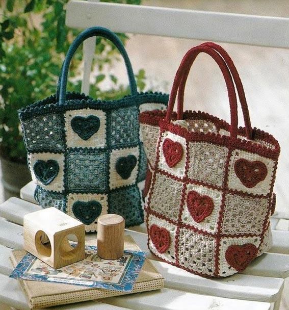 Вязание крючком сумочки для