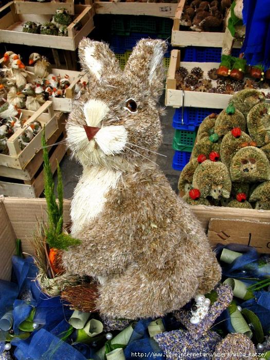 Заяц из сена