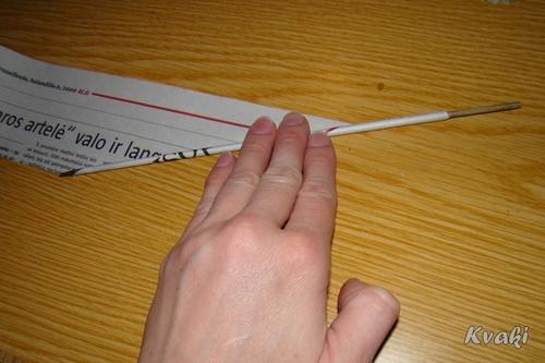 Как сделать бумажную трубочку для плетения
