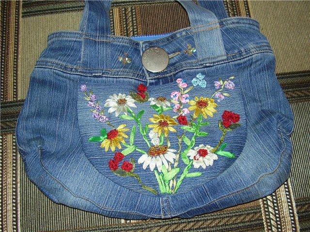 Сумка из старых джинсов Как сшить самую простую сумку из.