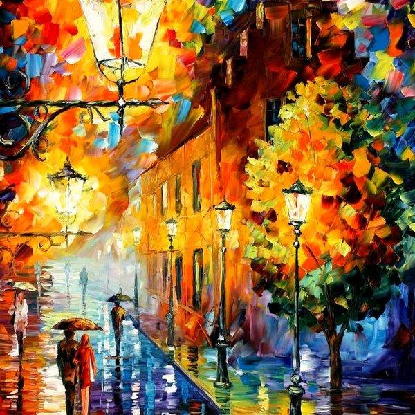 """Схема вышивки  """"Фонари ночного города """": таблица цветов."""