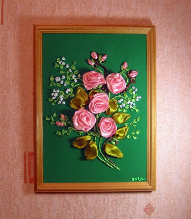 Как сделать картину из роз своими руками 10
