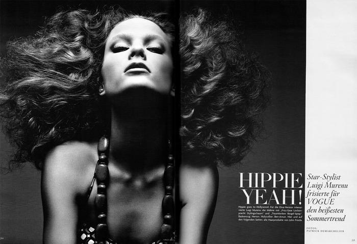 Hippie Yeah! - фотосет Patrick Demarchelier для Vogue Germany, Май 2010.