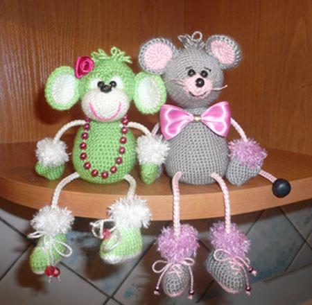 вязание крючком игрушек