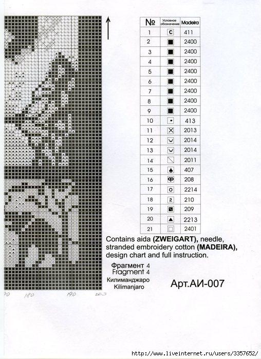 Схема вышивки килиманджаро