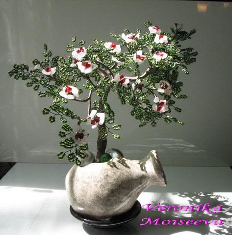 Деревце из бисера - Мир Бисера.