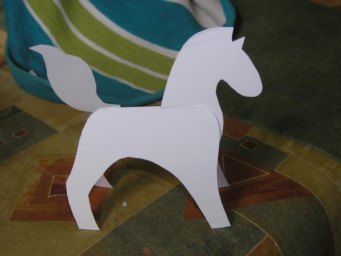 Как сделать лошадь из бумаги своими 148