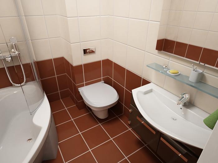 дизайн ванной комнаты маленького размера.