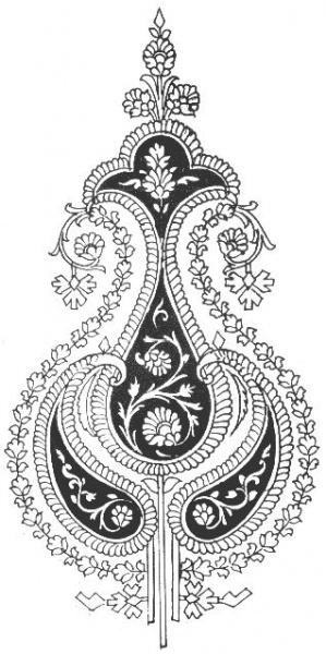 """Схема вышивки  """"Индийские мотивы """" ."""
