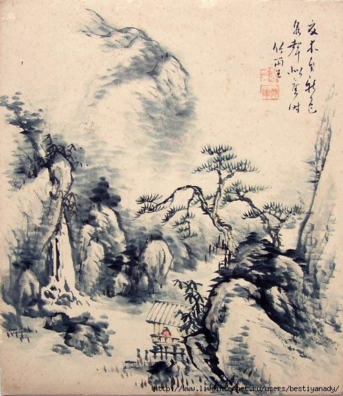 Японский пейзаж: предпросмотр.