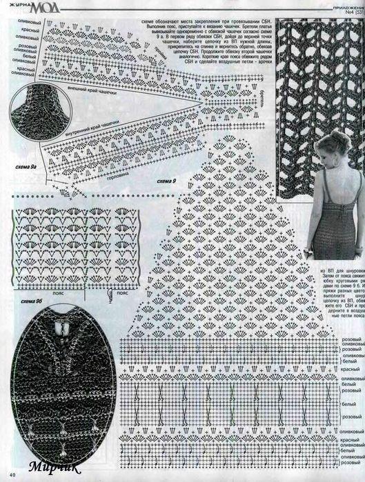 Модели.  Для женщин.  Платье, вязаное крючком.