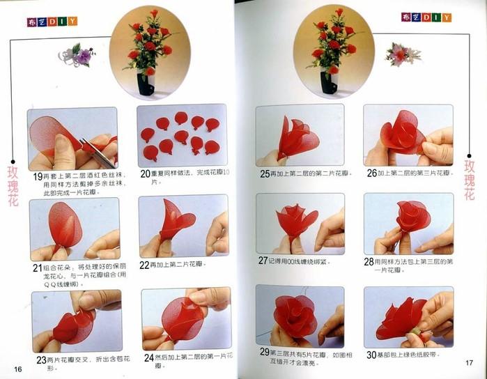 Цветы из капрона своими руками мастер класс для начинающих 32