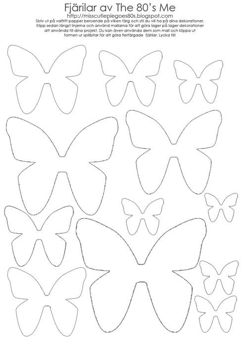 Трафареты для вырезания из бумаги разных размеров