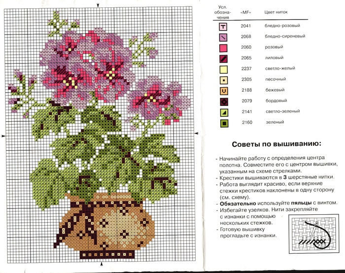Схема вышивки дневники