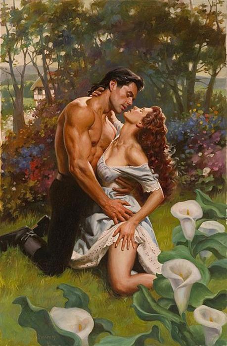 картинки влюбленных пар рисованные