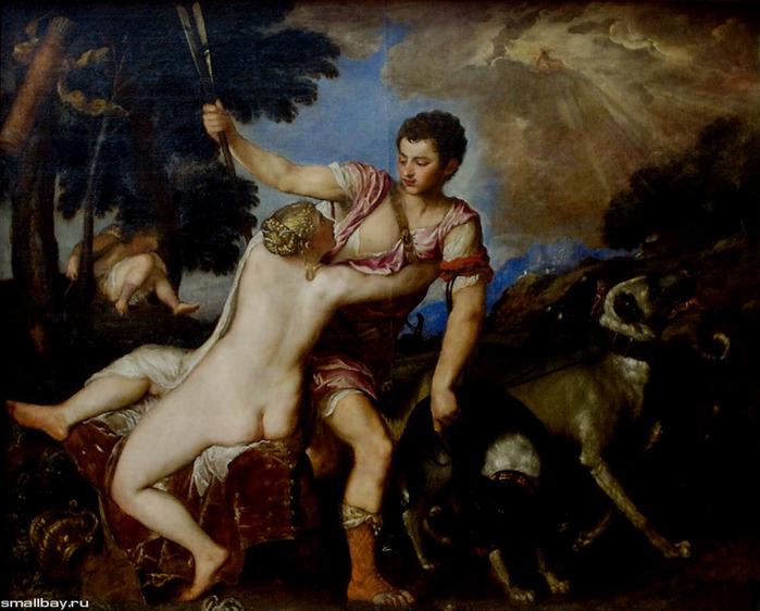 Тициан Венера и Адонис.