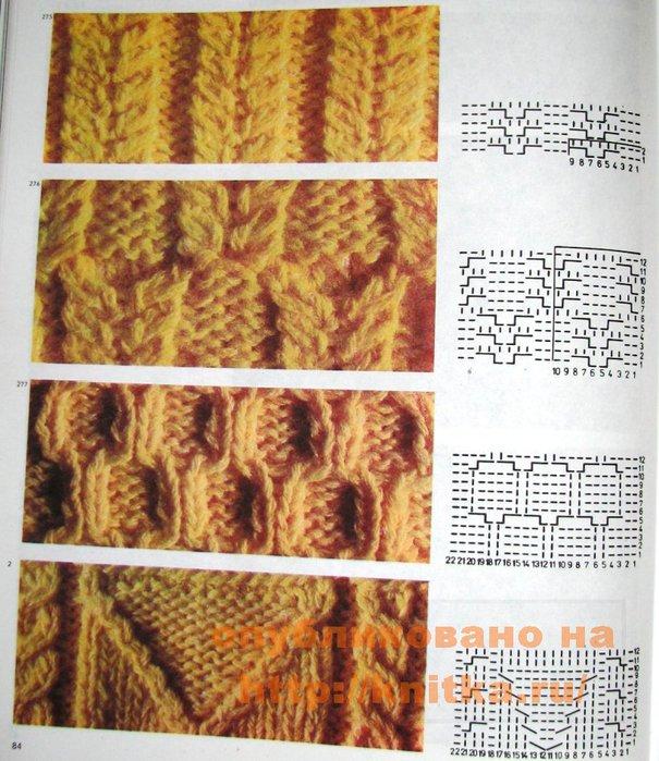 вязания Схемы вязания узоров с
