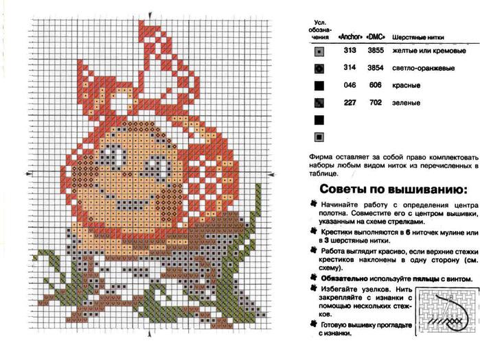 Схема вышивки крестом с описанием и схемой