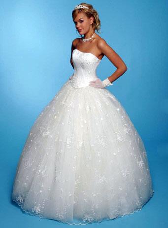 длинные пышные свадебные платья