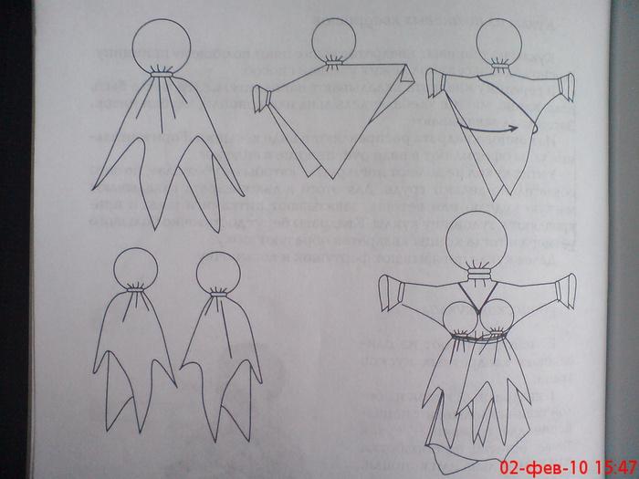 Куклы из ткани своими руками пошаговая инструкция