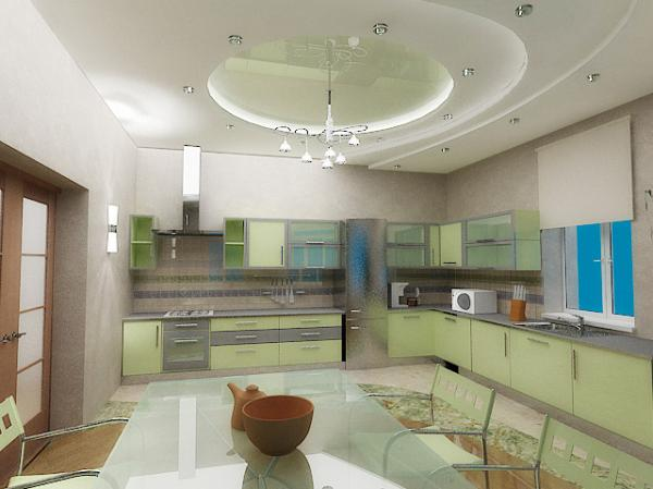 Дизайн проект потолков кухни