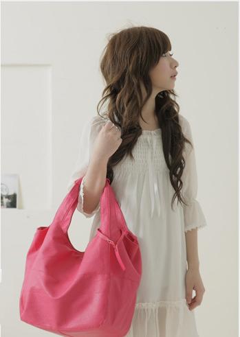 Мягкая розовая сумка - EuroModa.Kz.