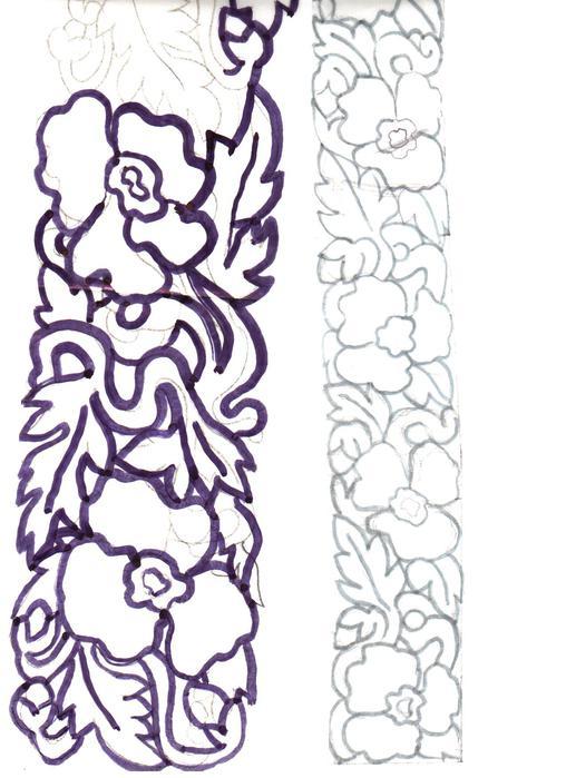Эскиз пояса для вышивки из
