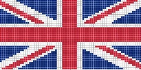 как плести сережки из бисера британский флаг схема.