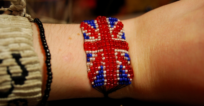 схема британского флага.