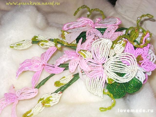 букет цветов из бисера - Бисероплетение для Всех!