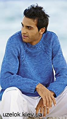 Схемы и узоры вязания мужских свитеров.