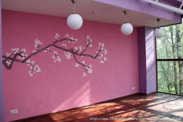 Как сделать сакуру на стене своими руками 29