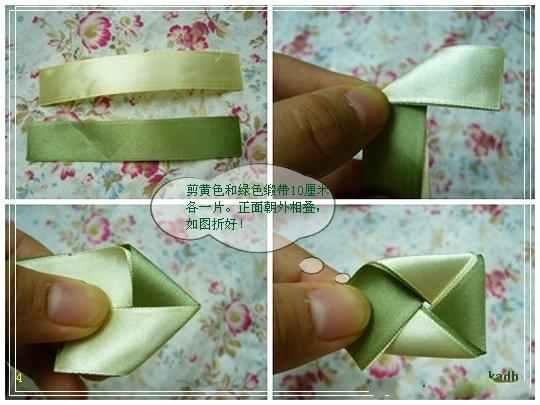 мастерклассы по рукоделию.  Мастер класс по созданию цветка из атласных ленточек.  Им можно украсить резинку для...