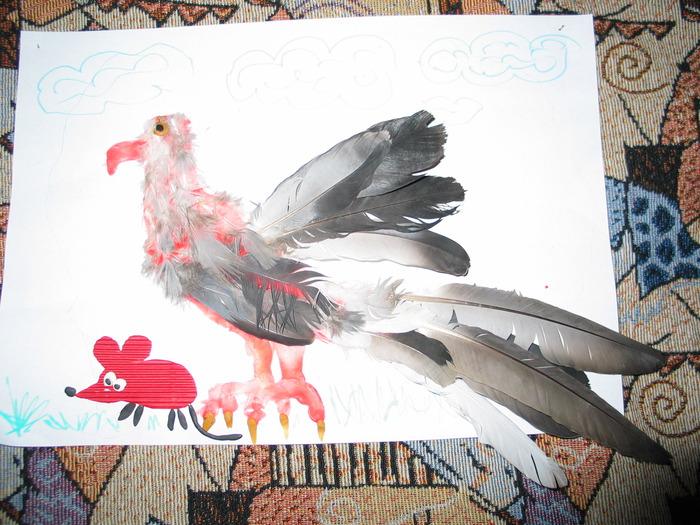 Поделки с перьями птиц