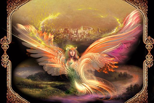 Здравствуй, золотая птица-Феникс.  Я пришла к тебе, чтобы поговорить.