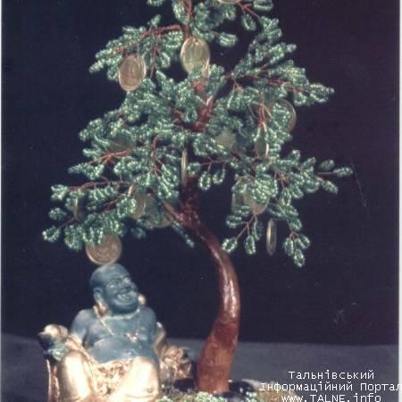 Описание: Бисерное денежное дерево с Хотеем.