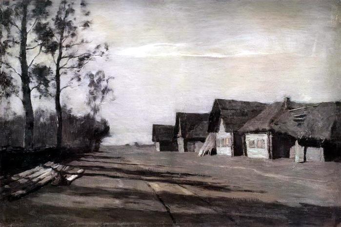 Лунная ночь деревня 1897