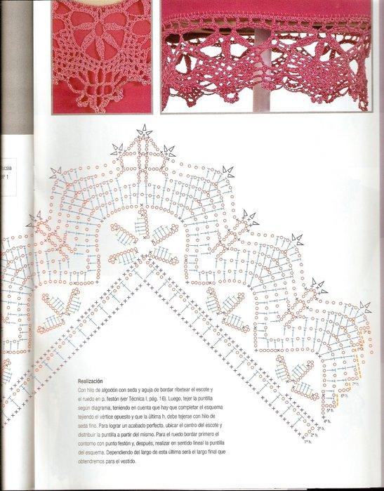Комбинирование ткани и вязания спицами схемы 5
