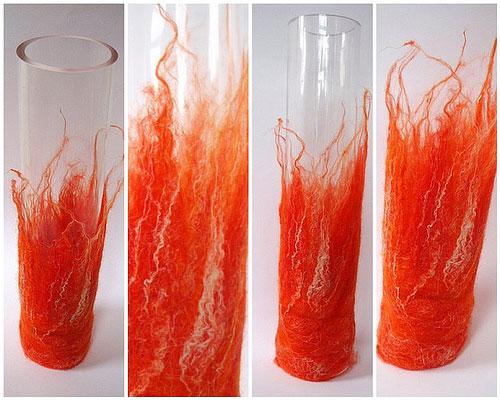 Чехол для ваза из br /войлока.