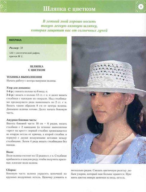 Вязание летних шляп спицами 52