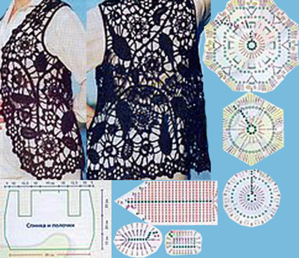 Как Собирать Детали Вязанной Цветами Блузки Для Полных