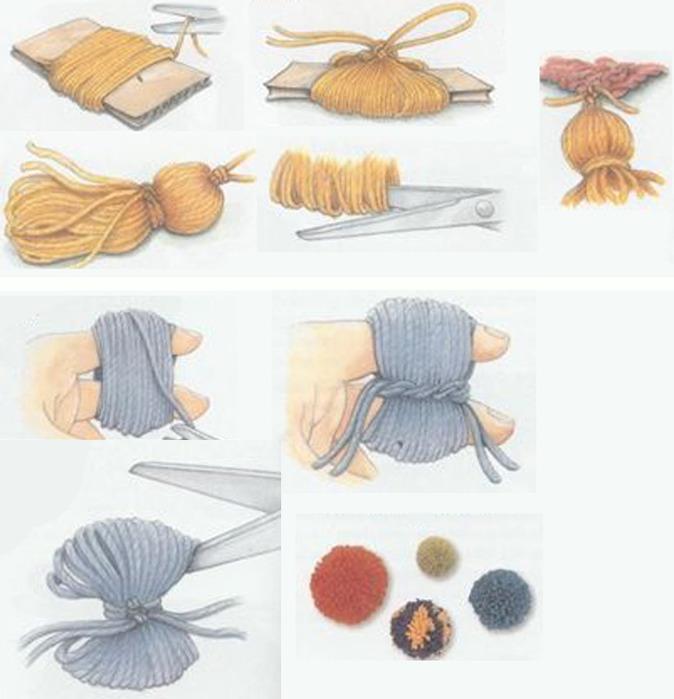 Как сделать пумпончик из пряжи