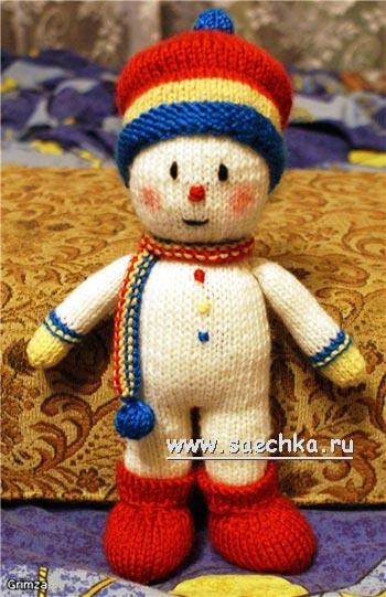 Вязаный на спицах снеговик.  Zula. если интересуют вязанные снеговики, я нашла мастер-класс.  2011-11-29 в 23:39.