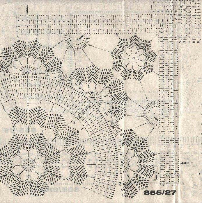 схема вязания квадратной салфетки крючком в техники филейного вязания - Всемирная схемотехника.