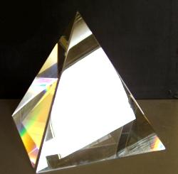 Например, склеить из картона или сделать из досочек.  Желательно, чтобы грани пирамиды были 15 см, 30 или 45.